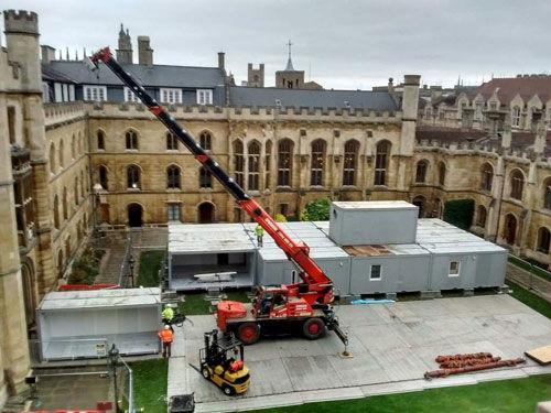 Portable Kitchens - Crane Installation