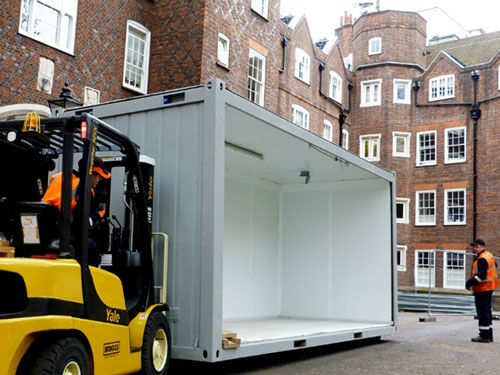 Portable Kitchens - Fork Lift Installation